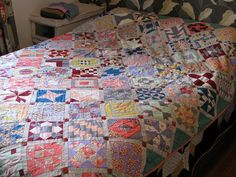 Mmm!    Farmers Wife Sampler Quilt, done! by run amok, via Flickr