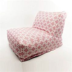 Indoor Bean Bag Lounger in Soft Pink Links Pattern Add style and f...