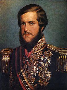 Pedro II of Brazil 1850.-------- Fue hermana del emperador Pedro II de Brasil. Tuvieron un hijo, Pedro de Orleans, duque de Penthièvre (1845-1919), también trajo a la marina de guerra.