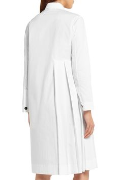 Shop on-sale Marni Pleated cotton-poplin shirt dress. Browse other discount designer Dresses & more on The Most Fashionable Fashion Outlet, THE OUTNET. Casual Chique, Fashion Details, Fashion Design, White Shirts, Mode Inspiration, Mode Style, Fashion Outlet, Marni, Poplin