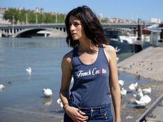 Stylée en bleu blanc rouge! - Blog Mode en France débardeur cœur brodé 100% made in france