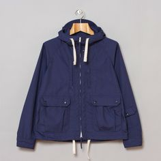 Engineered Garments Short Parka Navy PC Poplin