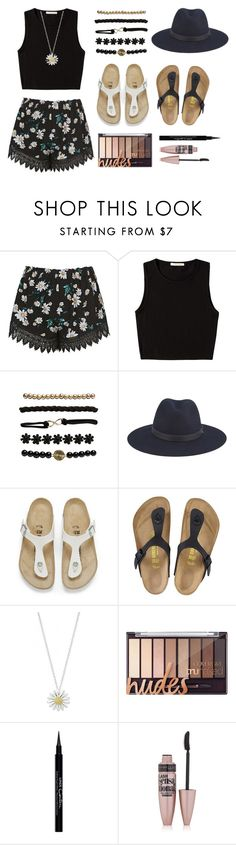 """Summa, Summa ☀️"" by mollielarson234 ❤ liked on Polyvore featuring Topshop, Pieces, Wet Seal, rag & bone, Birkenstock, Daisy Jewellery, Givenchy and Maybelline"