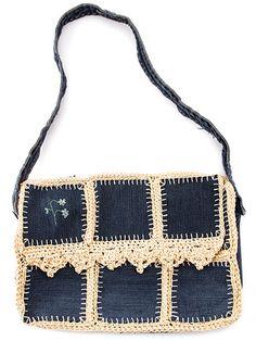 Upcycled-Jean Messenger Bag
