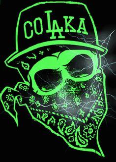 Share graphics with friends: bandana gangsta