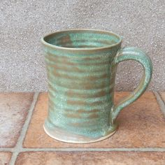 Beer Stein Or Tankard Large Mug Wheel Thrown Stoneware Pottery by Caractacus Pots on Gourmly