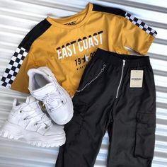 Mode Tutorial and Ideas Teen Fashion Outfits, Edgy Outfits, Swag Outfits, Grunge Outfits, Korean Outfits, Outfits For Teens, Retro Outfits, Vintage Outfits, Mode Grunge