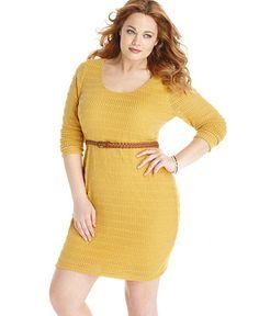 mustard knit dress Mustard Fashion, Big Girl Clothes, Curvy Plus Size, Curvy Fashion, Knit Dress, Girl Outfits, My Style, Curvy Style, Long Sleeve