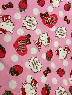 Hello Kitty on Dots by grandmasfabrics on Etsy https://www.etsy.com/listing/77891135/hello-kitty-on-dots
