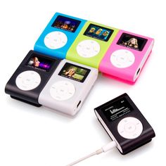 Modo CALDO di VENDITA Mini USB Schermo LCD Lettore MP3 Della Clip di Sostegno 32 GB Micro SD TF CardSlick design elegante Sport compatto