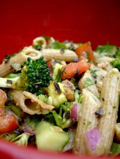 Chicken, Avacado and Bacon Pasta Salad:  every pasta salad wishes it was this spectacular!