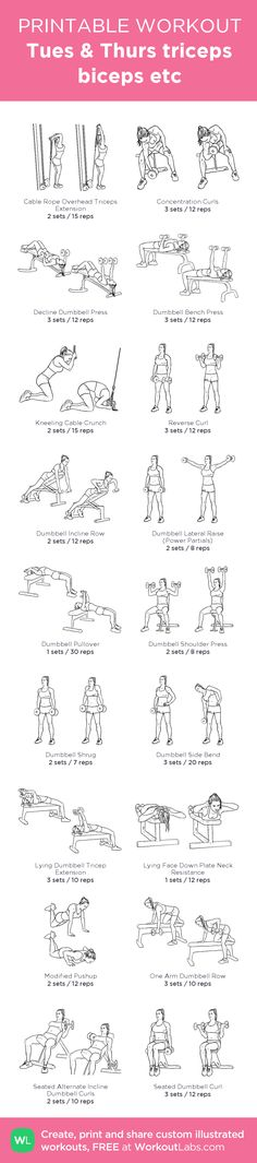 Tues & Thurs triceps biceps etc: my custom printable workout by @WorkoutLabs #workoutlabs #customworkout
