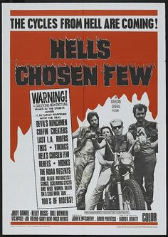 dusk to dawn drive-in trash-o-rama show Biker Movies, Cult Movies, Vintage Movies, Vintage Posters, Werewolves On Wheels, Motorcycle Posters, Motorcycle Types, Motorcycle Clubs, Bad Film
