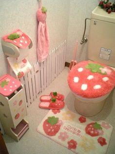 I love this design for a little girls bathroom! I love this design for a little girls bathroom! Cute Room Ideas, Cute Room Decor, My New Room, My Room, Room Ideas Bedroom, Bedroom Decor, Kawaii Bedroom, Otaku Room, Home Decor Ideas