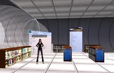 Libraries will be virtual - NVC SecondLife Library space