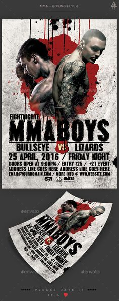 Flyer Mma Fight Flyers And Mma