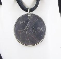 1976 Italian coin necklace - https://www.etsy.com/listing/233419812/italian-coin-necklace-50-lire-vulcan