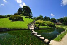 Okayama, Le Site, Golf Courses, River, Places, Zen, Outdoor, Gardens, Outdoors
