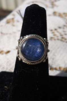 Beautiful Blue Kyanite and Sterling Silver ring   Size 7    $30.00