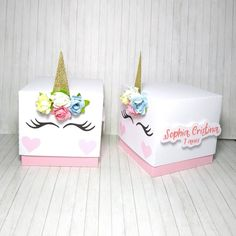 Unicorns🦄 Order now unicorn exploding box from 🦄💕 . Valentine Box Unicorn, Valentine Day Boxes, Valentine Crafts, Valentines, Unicorn Birthday Parties, Unicorn Party, Birthday Box, Birthday Gift Wrapping, Gift Wraping