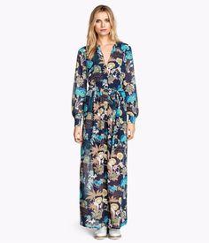 H&M Conscious Collection~Floral Boho Chiffon Maxi Dress~14 *SOLD OUT ONLINE* #HM #Maxi
