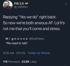 I don't ever want to experience it. I be anxious af as it is Funny As Hell, The Funny, Real Quotes, Funny Quotes, Qoutes, Motivational Quotes, Inspirational Quotes, Twitter Quotes, Twitter Twitter