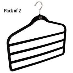 Mayatra's 1Pc 'S' Shape Premium Quality Plastic 5 Layer Pant Hanger, Cupboard Organiser Space Saving Hanger-Random Color: Amazon.in: Home & Kitchen