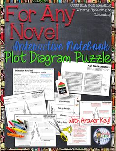 For Any Novel Interactive Notebook Plot Diagram Puzzle ($)