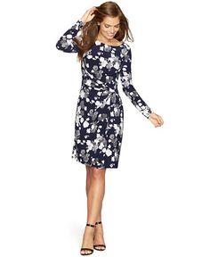 American Living Floral-Print Jersey Dress