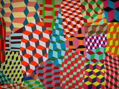 Barry McGee - Artiste et graffeur de SF - connu beaucoup pour ces motifs géométriques répétitifs mais aussi pour un type d'illustration de personnage, notamment de visage.