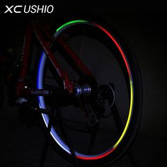 Hub Reflective Stickers Mountain Bike Hot Wheels Fluorescent Decal Reflection Paster Outdoor Bicycle Accessories