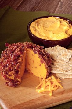 Smoken' Cheddar Cheese Ball & Dip Mix The ultimate flavor marriage of cheddar cheese and smokey bacon! Enjoy as a veggie dip or a cheeseball! Also great mixed with lbs. of ground beef for tasty burgers! Cheese Ball Recipes, Appetizer Recipes, Snack Recipes, Cooking Recipes, Appetizer Ideas, Recipes Dinner, Healthy Recipes, Easy Recipes, Vegetarian Recipes