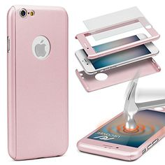Urcover® 360 Grad PC 2 in 1 Hülle | Apple iPhone 6 / 6s , rosa pink , 8,90€