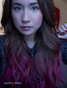 more subtle pink ombre hair