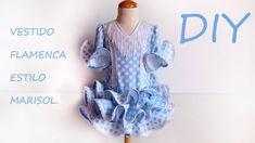 Vestido flamenca de niña estilo Marisol. Hazlo tu misma.