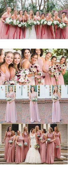 pretty dusty rose bridesmaid with long chiffon and lace design from tulleandchantily for fall and winter wedding Tulle Bridesmaid Dress, Classic Bridesmaids Dresses, Dusty Rose Bridesmaid Dresses, Tulle Dress, Wedding Dresses, Fall Wedding Colors, Lace Design, Color Trends, Wedding Blog