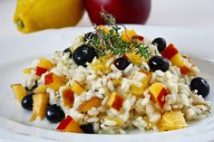 Cinnamon and Coriander: Nectarine &  Blueberry Risotto with Thyme