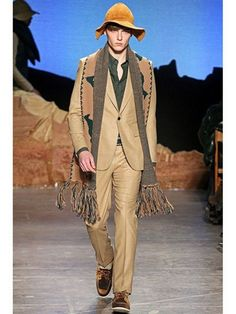 Band of Outsiders Riding Horse tan and hunter green  fringed scarf  #BandofOutsiders #Scarf