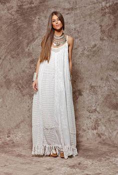 New dress summer maxi boho bohemian ideas Hippie Style, Mode Hippie, Hippie Look, Look Boho, Bohemian Mode, Hippie Chic, Bohemian Style, White Bohemian, Hippie Bohemian