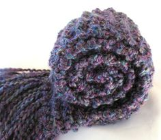 Dark Purple Scarf Chunky Hand Knitted Scarf by SticksNStonesGifts, $28.00 #pcfteam