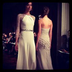 Love these illusion sleeves #JennyPackham #BridalMarket #wedding #weddingdress