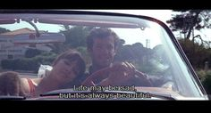 """""""Life may be sad but it's always beautiful."""" - Pierrot le fou"""