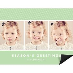 Spice & Everything Nice - Christmas Card Magnets. Triple the charm! Your three photos are bordered by a dash of color and a sprinkle of pizzazz on these magnet Christmas cards.. Price: $105.52