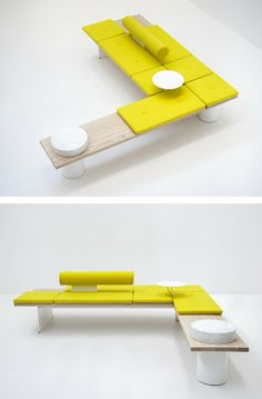 Tacchini wins the Interior Innovation Award - Galleria system on show at IMM 2014 #yellow @Jaren Jaren cologne