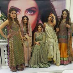 The models at the #MonaJ salon launch #happeningnow #Karachi