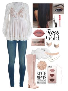 """""""LuLu~"""" by jenni-coca ❤ liked on Polyvore featuring J Brand, Gianvito Rossi, Zimmermann, Lime Crime, Lancôme, Maybelline, Charlotte Russe, FOSSIL, Casetify and La Mer"""