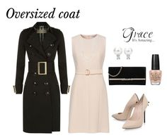 """""""Sunday's best with oversized trench coat"""" by nresczenko ❤ liked on Polyvore featuring Burberry, Casadei, Bloomingdale's, Jimmy Choo and OPI"""