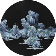 Li Yuming, Sky Island in Changzhou, Oil and acrylic on canvas, 120cm diameter, 2014