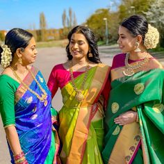 A sister is God's way of proving He doesn't want us to walk alone. I'm blessed with two of them ❤️ Walking Alone, Indian Hairstyles, Saree Styles, Silk Sarees, Blouse Designs, Sari, Photo And Video, Clothes For Women, Hair Styles
