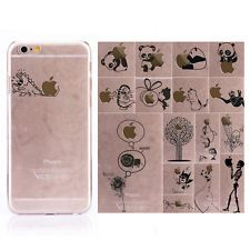 For Apple iPhone Series Ultra Thin Clear Hard Cover Creative Patterned Case